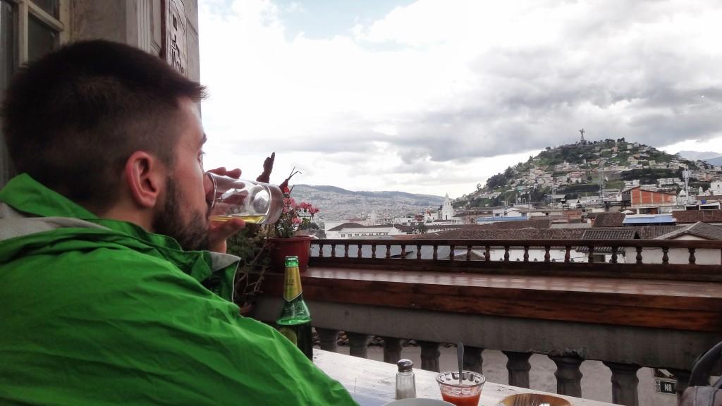 jordan drinking a beer