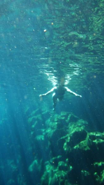 Swimming in Las Grietas