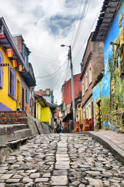 cobbled streets of bogota colombia
