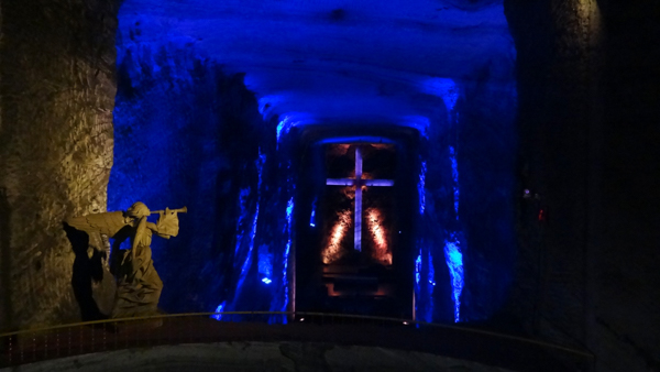 Salt Cathedral in Bogota, Colombia