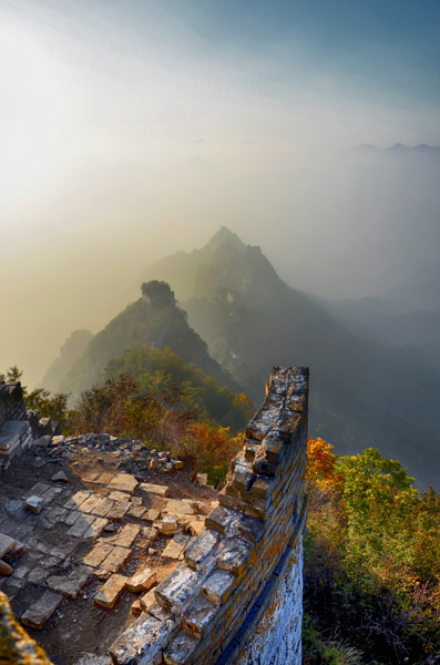 zhengbeilou watch tower in the fall