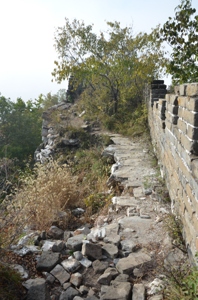 ruins great wall of china beijing