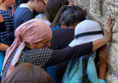 praying at wailing wall, Jerusalem, israel