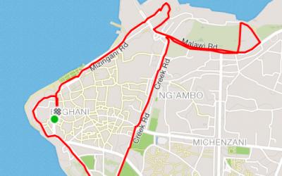 Running in Zanzibar